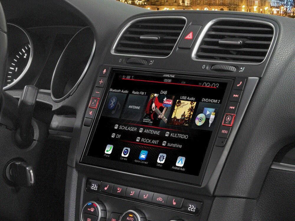 Alpine X902D-G6 Navigationssystem f�r VW Golf 6