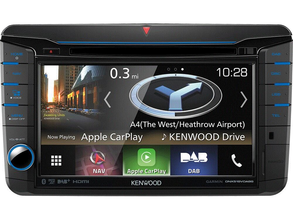 Kenwood DNX518VDABS Navigation f�r VW, Skoda, Seat